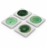 Cirrus Agate Coasters | Nickel