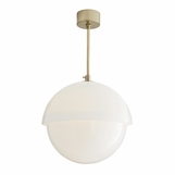 Claire Glass Pendant | Brass