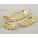 Cleo Hammered Trays | Brass