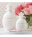 Colada Pineapple Jars Set | White