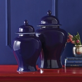 Colorful Porcelain Jars Set | Blue
