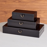 Colton Leather Boxes | Black