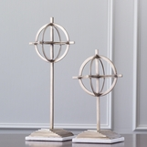 Compass Brass Sphere Sculptures