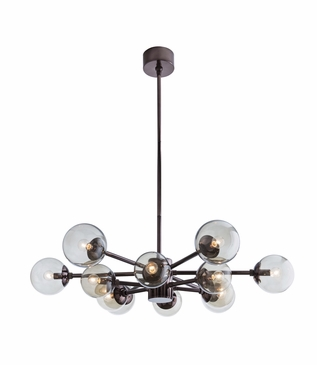 Conway Chandelier | Brown Nickel