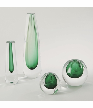 Copal Glass Vases | Emerald