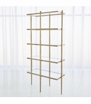 Corbett Bookshelf | Antique Gold