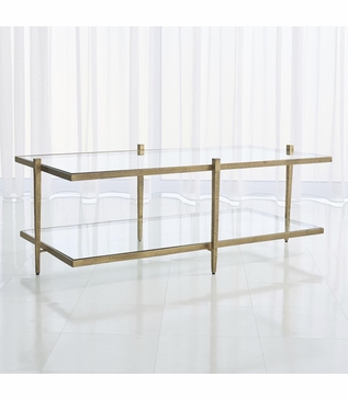 Corbett Coffee Table | Antique Gold