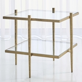 Corbett Square Side Table | Antique Gold