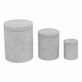 Corgan Marble Canisters Set