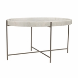 Cosette Stone Coffee Table | Silver