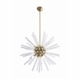 Cosmic Glass Chandelier | Brass