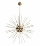 Cosmic Grand Glass Chandelier | Brass