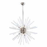 Cosmic Grand Glass Chandelier | Nickel