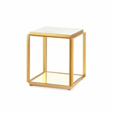 Costello Marble Side Table | Gold Leaf