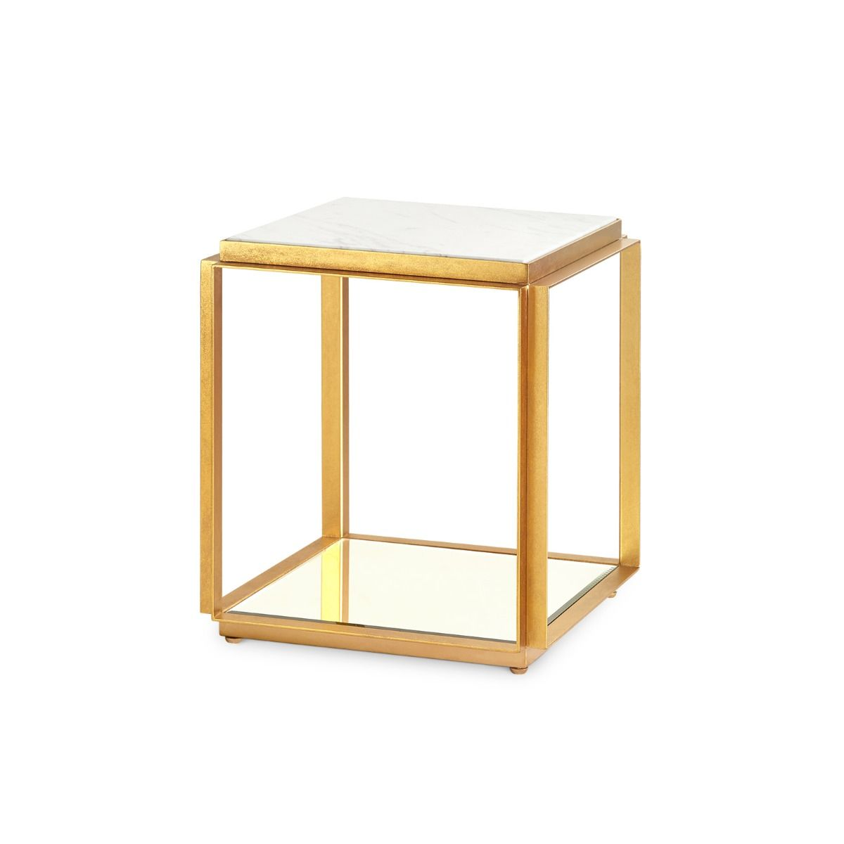 Costello Marble Side Table Gold Leaf