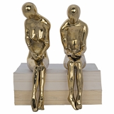 Courtship Brass Sculptures Set | Large