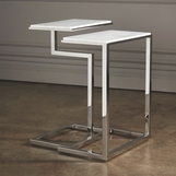 Covet Marble Nesting Tables | Nickel