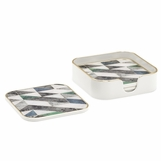 "Craddock Coasters Set | Geo ""Marble"""
