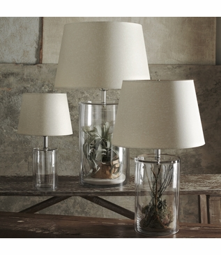 Credo Clear Glass Cylinder Lamps
