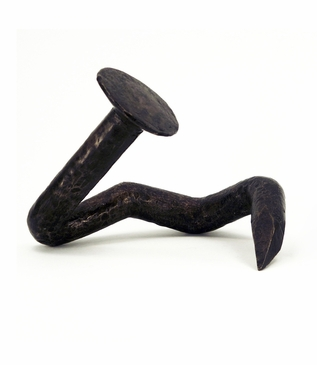 Crooked Nail Bronze Sculpture