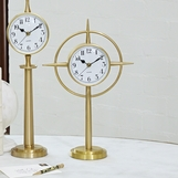Crosshair Desk Clock | Brass
