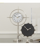 Crosshair Desk Clock | Nickel