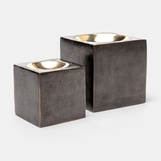 Cubismo Votives Set | Brushed Iron