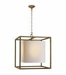Cubist Large Pendant | Antique Brass
