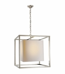 Cubist Large Pendant | Polished Nickel