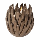 Dahlia Ceramic Votive | Bronze