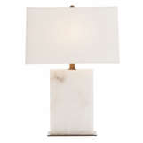 Daly White Marble Lamp