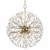 Dandelion Pendant | Antique Brass