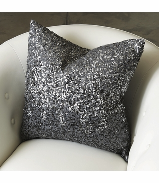 Dancy Sequined Pillow | Silver