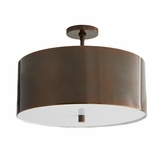 Darso Semi-Flush Mount | Burnished Brass