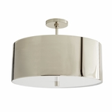 Darso Semi-Flush Mount | Nickel