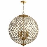 Darvos Iron Chandelier | Gold Leaf