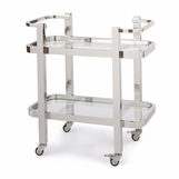Delgado Bar Cart | Nickel