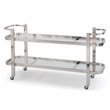 Delgado Long Bar Cart | Nickel