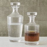 Delia Seeded Glass Decanters