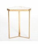 Delta Goldleaf Side Table | Marble Top