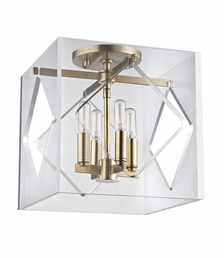 Demille Flush Mount | Brass