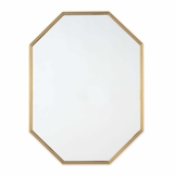 Denise Octagonal Wall Mirror | Brass