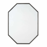 Denise Octagonal Wall Mirror | Dark Steel