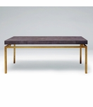 "Depp ""Shagreen"" Gold Coffee Table 