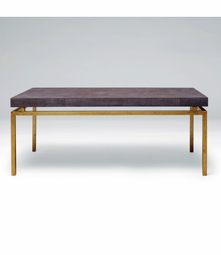 """Depp """"Shagreen"""" Gold Coffee Table 