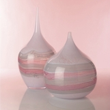 Desert Swirl Pink Glass Vases Set