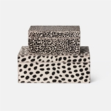 Deville Patterned Hide Boxes Set