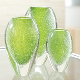 Dewdrop Green Vases Set