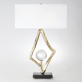 Diamonte Table Lamp | Brass