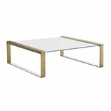 Diaz Coffee Table | Brass